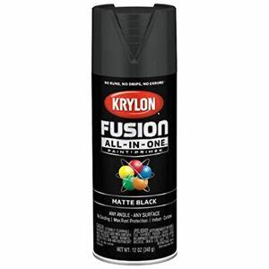 Krylon Fusion Spray Paint + Primer, Matte Black, for Plastic, Glass, In/Outdoor
