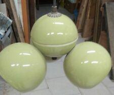 Lampadario Vintage anni 70' in ceramica/porcellana verde GLOBI CICLOPE ILIDE???