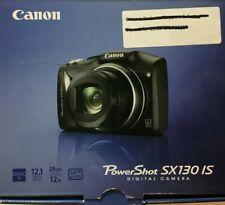 Brand New-Canon PowerShot SX130 IS 12.1MP Digital Camera - Black