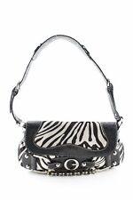 GUESS Umhängetasche schwarz-wollweiß Animalmuster Elegant Damen Tasche Bag