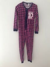 One Direction Pink And Purple One Piece Sleepwear Size 12