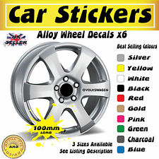 Volkswagen Alloy Wheel Stickers Decals 100mm