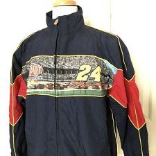 NASCAR Jeff Gordon 24 Windbreaker Jacket Mens L Dupont Motorsports Hendrick Blue