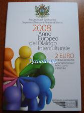 2 euro SAN MARINO 2008 INTERCULTURAL DIALOGUE BU FDC SAINT-MARIN KMS Сан Марино