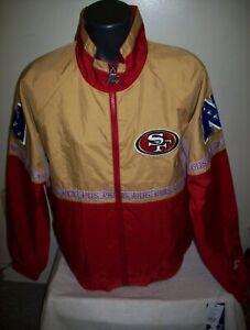 SAN FRANCISCO 49ERS Starter Full Zip Jacket SUMMER/FALL 3X 4X 5X High Detail