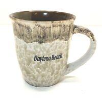Daytona Beach Coffee Mug Stoneware Brown Wide Rim Large