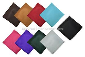 New Satin Wedding Mens Pocket Square Office Suit Plain Handkerchief