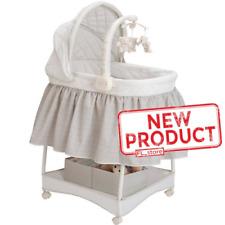 Baby Gliding Bassinet Under Storage Nursery Night Light Mattress Pad Sheet New