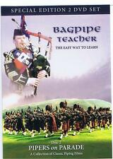 2 DVDs PIPERS on PARADE and BAGPIPE TEACHER the Easy Way To Learn Bagpipes