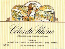 Wine Label - Côtes du Rhône - Les caves des côteaux de St Maurice
