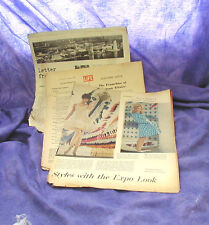 VINTAGE EXPO 67 MONTREAL WORLDs FAIR LRG SHEET LIFE + OTHER MAGAZINE ARTICLES