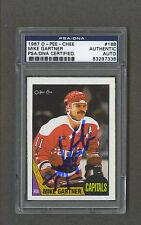 Mike Gartner signed Washington Capitals 1987 Opee Chee hockey card Psa