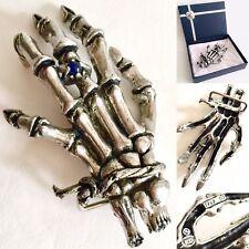 "Rare Vintage (1989) Signed Alchemy Gothic Hand Metal Belt Buckle (5""/13cm, 155g)"