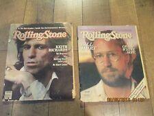 Lot of 2 Rolling Stone Magazines  Keith Richards/ bill hurt 1981