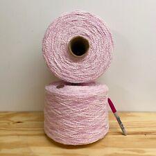 Yarn Lot - 2 LARGE Cones - 8+ POUNDS!! Pink Machine Knitting, Weaving