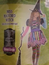 Girls Large Halloween Witch Costume, Hat Included #262