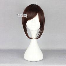 Attack on Titan Sasha Blaus Medium Cosplay Wig Anime Kostüm Ponytail +Cap Braun