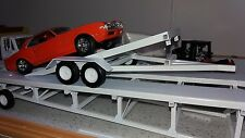 1 Car open tilt trailer 1:24 1:25 scale model