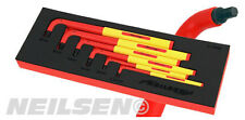 NEILSEN Tools 6pc Extra Long VDE Hex Allen Key Set 1000v 2.5,3,4,5,6,8mm ct3938