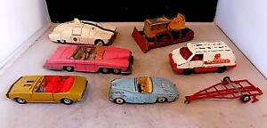 Vintage Diecast Dinky, Corgi Vehicles x 7, As Found for Restoration or Spares.