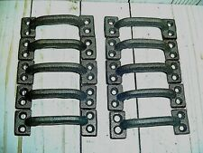 Lot Of 10 Vintage Style Cast Iron Handles, Barn, Shed, Gate Handle, Cabinet