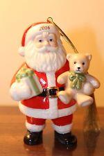Lenox 2016 Annual Good Tidings Santa Ornament Nib Christmas Holiday