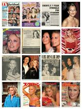 Cheryl Ladd collection / lot 1,500+ magazine articles, clippings & photos  V1