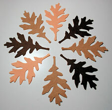 16 x Felt Autumn Winter Leaves Die Cuts Brown Shades Autumn Leaf Scrapbooking