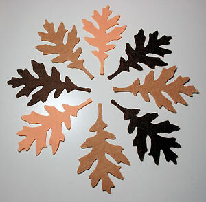 18 x Felt Autumn Winter Leaves 9 cm 90 mm Large  Browns Appliques Toppers