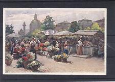 AK Wien Kunstkarte Marktszene mit Karlskirche im Hintergrund