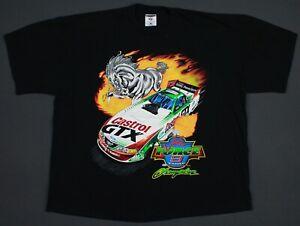Vintage 90's John Force NHRA Winston Drag Racing 9 Time Champion T-Shirt 2XL Big