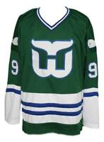Custom Name # Whalers Retro Hockey Jersey New Gordie Howe Green Any Size
