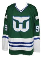 Any Name Number Size Whalers Retro Hockey Jersey New Gordie Howe Green