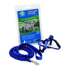 NIB NEW PetSafe COME WITH ME KITTY Cat Harness and Bungee Leash Blue LARGE
