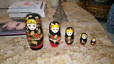 Russian Nesting dolls Matryoshka set 5 pcs. Hand painted in Russia.