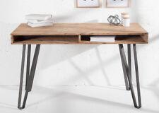Schreibtisch massiv Konsole Industrie Design 110cm Massivholz Akazie Holz Tisch