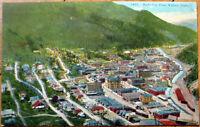 1920 Postcard: Bird's Eye View - Wallace, Idaho ID