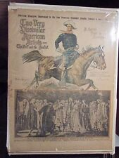 """Vintage A BUNCH OF BUCKSKINS by Frederic Remington - Newspaper Cover VG+ 16x21"""""""