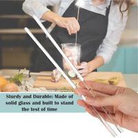 "12Pcs Glass Stirring Rods 10"" for Kitchen Drinks Swizzle Stir Sticks DIY Creams"