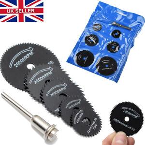 7Pcs Wheel Cutting Blades HSS Saw Disc For Dremel Drills Rotary Tool 22-50mm