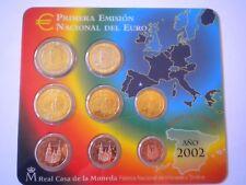 EUROSET ESPAÑA - AÑO 2002 - TODOS LOS VALORES EN EUROS - Sin Circular