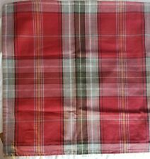 "NEW! Pottery Barn NEWBURRY PLAID 22"" SQ. Pillow Cover Christmas"