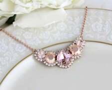 "Amethyst Morganite & Diamond 3.Ct 14k Rose Gold Over Pendant 18"" Chain Necklace"