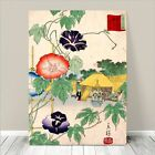 "Beautiful Japanese Floral Art ~ CANVAS PRINT 24x18"" ~ Morning Glory Koson"