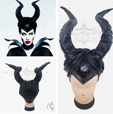 Maleficent Deluxe Adult Halloween Costume Horns Headpiece Disguise Custom Hat PU