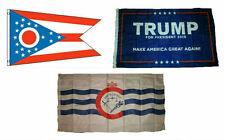 3x5 Trump #1 & State of Ohio & City of Cincinnati Wholesale Set Flag 3'x5'