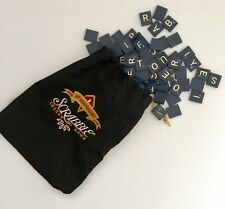 Scrabble 50th Anniversary Blue Replacement Game Letter Tiles Pouch Pieces Crafts