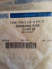 PACKAGE OF 6 SCREWS! FORD N806996S58 GENUINE OEM REAR DOOR TRIM SCREW FREE SHIP!