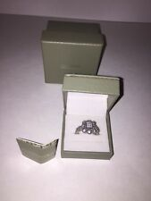JUDITH RIPKA Sterling Silver 925 Diamonique Cluster Cubic Zirconia CZ Ring Sz 10