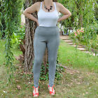 Pantalon leggings Femme Grande Taille 48 Gris noir chevron Milly ZAZA2CATS new